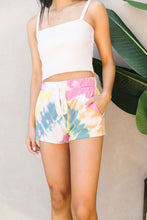 Load image into Gallery viewer, Tie Dye Swirls Shorts In Yellow
