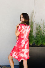 Load image into Gallery viewer, Tiered Tie Dye Dress In Coral