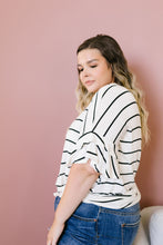 Load image into Gallery viewer, Twice As Nice Striped Top In Ivory