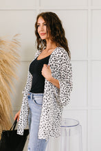 Load image into Gallery viewer, White & Black Spotted Kimono