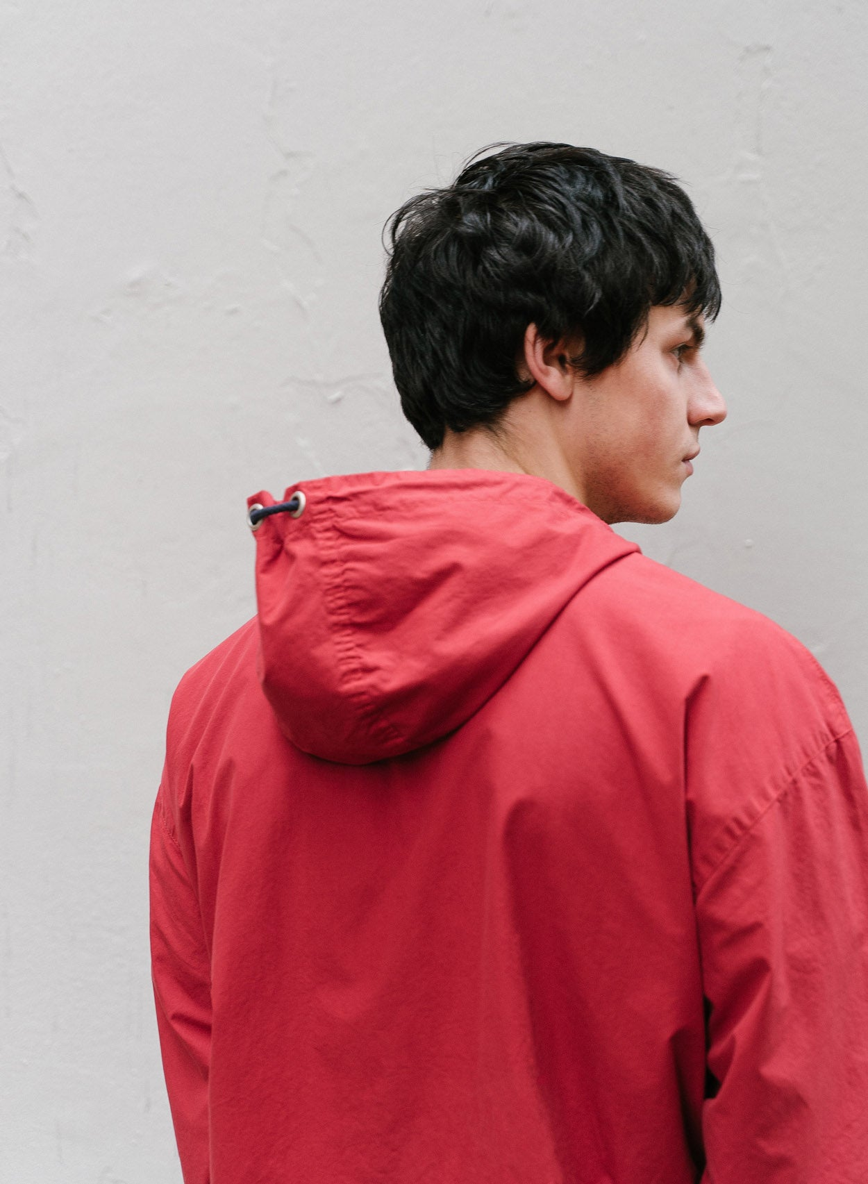 Red Overhead Zip Jacket