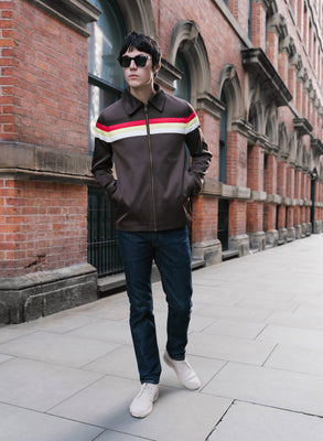 Brown Retro Stripe Jacket