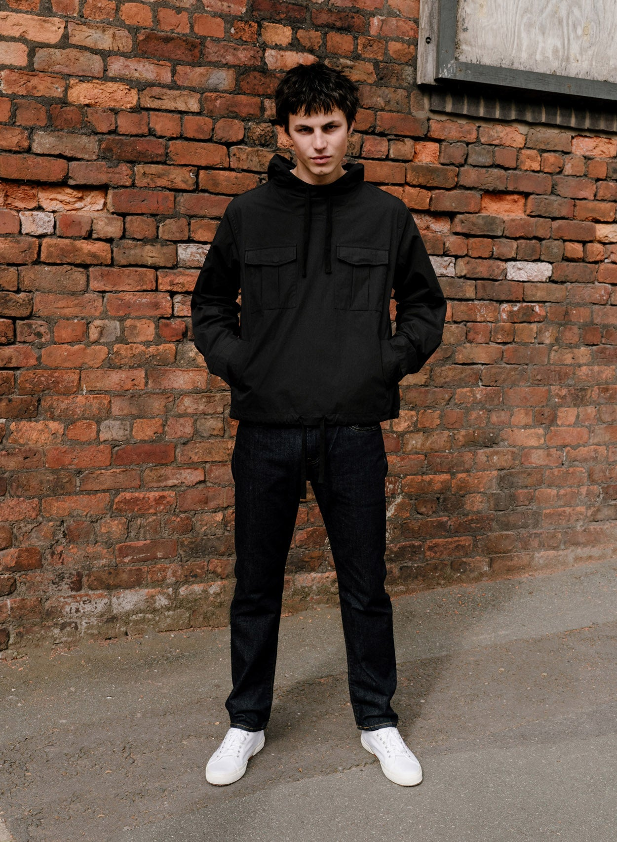 Black Two Pocket Overhead Jacket