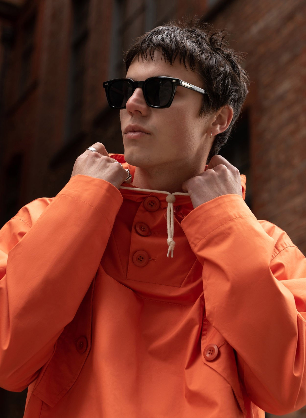 Orange Overhead Long Smock