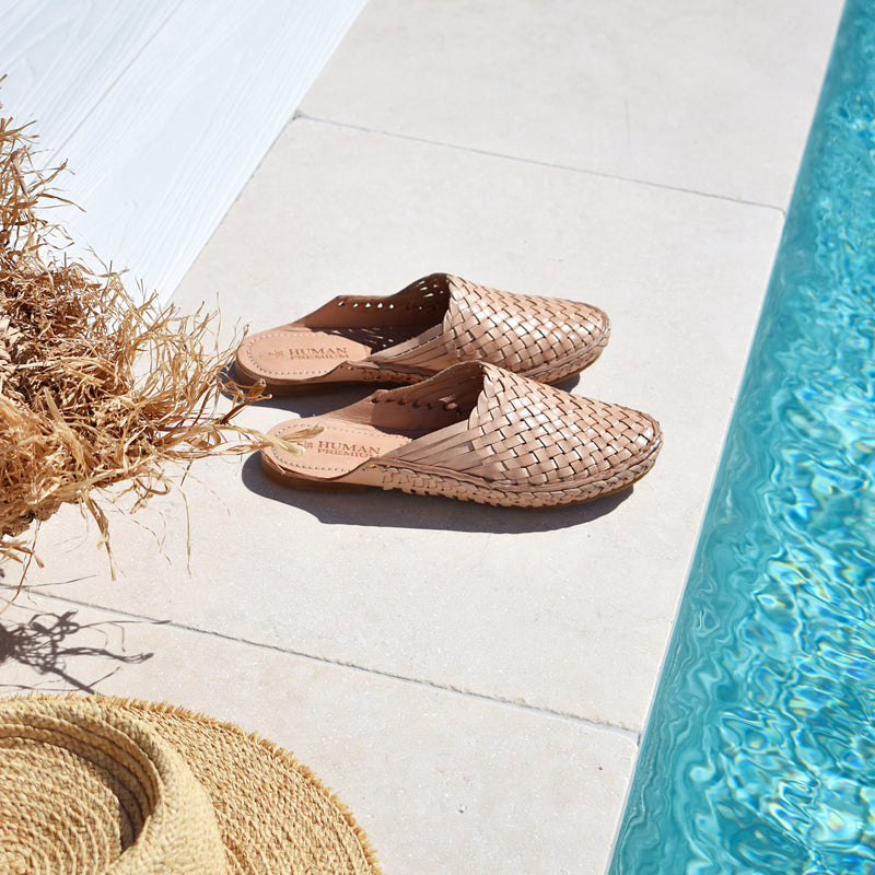 Hazza Woven Loafer Slide - Natural - Islandlace