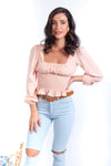 Ulysses Top - Peach - Islandlace