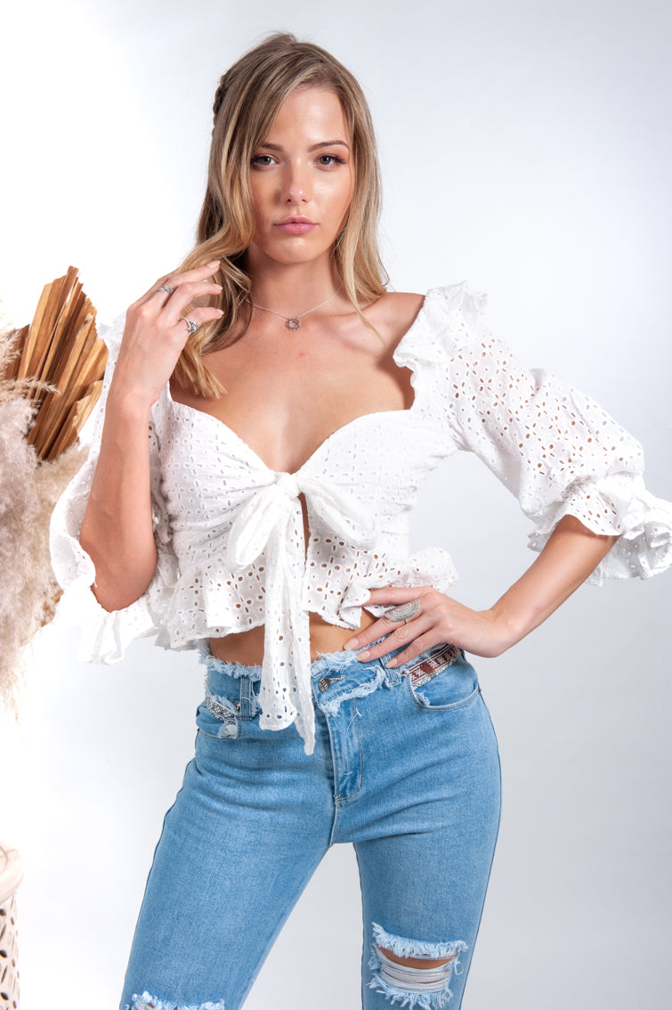 Michaela Crop Top - Islandlace