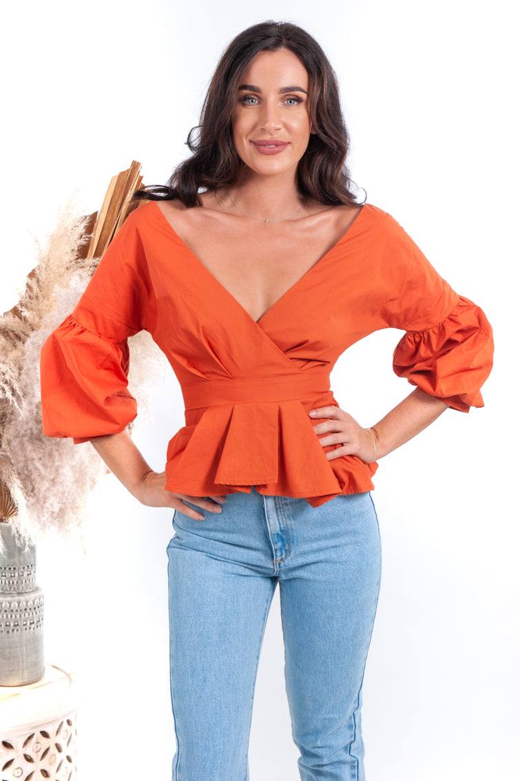 Nara Top - Orange - Islandlace