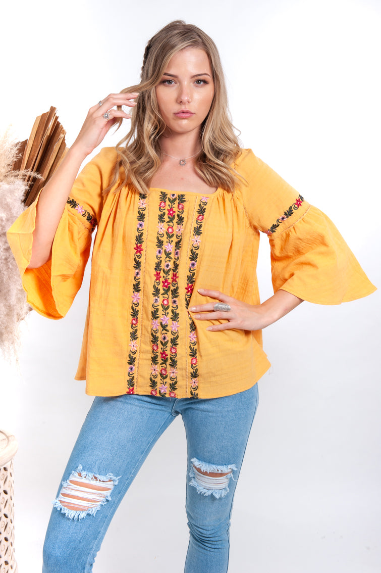 Melody Fira Top - Mango - Islandlace