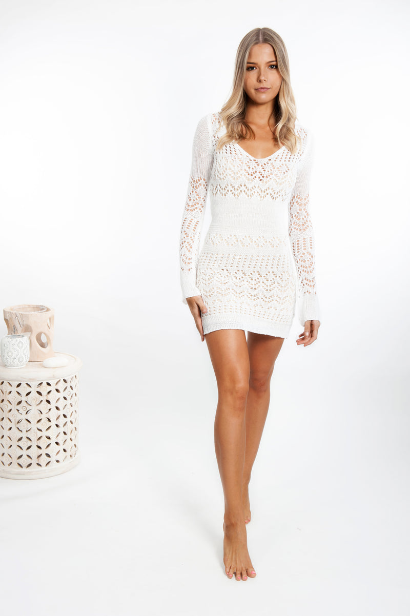 Shona Crochet Mini Dress - Islandlace