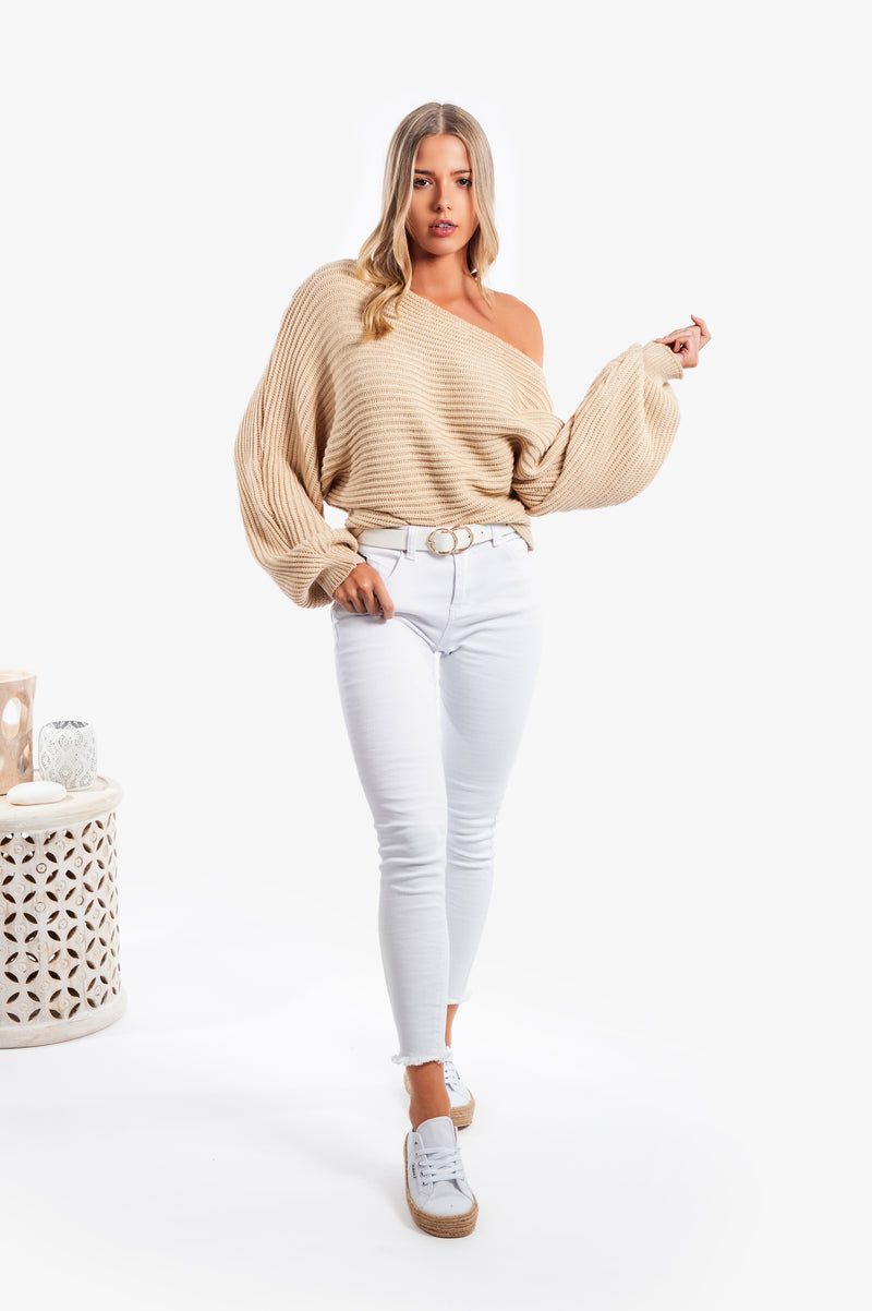 Day Break Off Shoulder Jumper - Islandlace