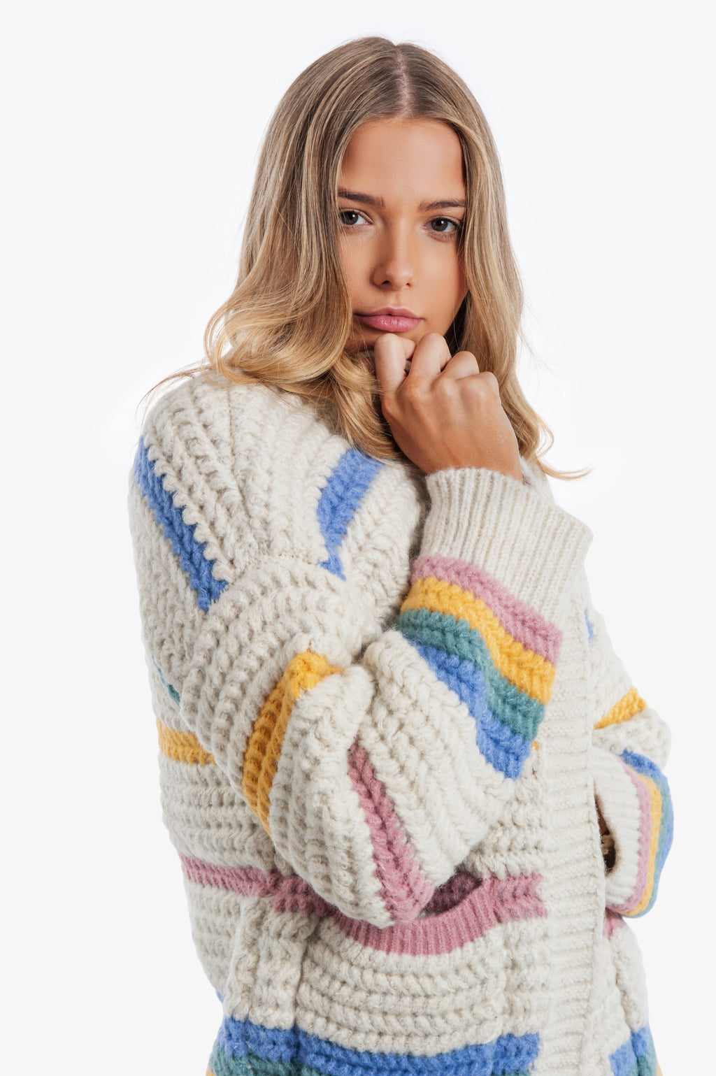Candy Chunky Knit Cardigan - Islandlace
