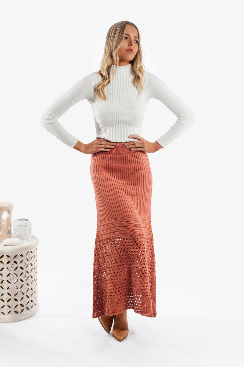 Amber Ribbed Knit Top - Islandlace