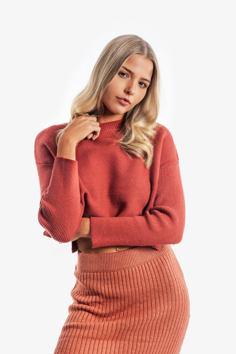 Gracie Cropped Jumper - Islandlace