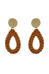 Teardrop Rattan Earrings - Islandlace