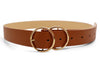 Double Hoop Belt - Brown/White/Black - Islandlace
