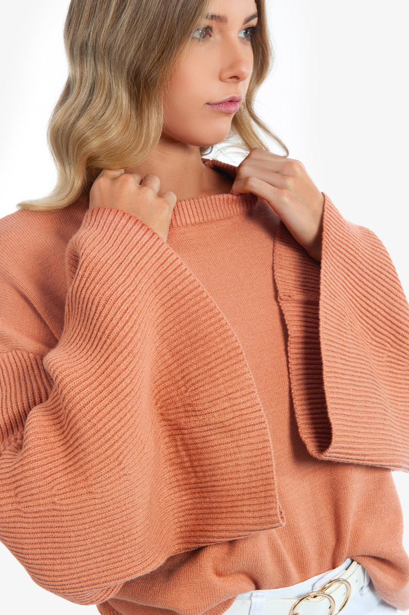Kelsy Knit - Dusty Peach - Islandlace