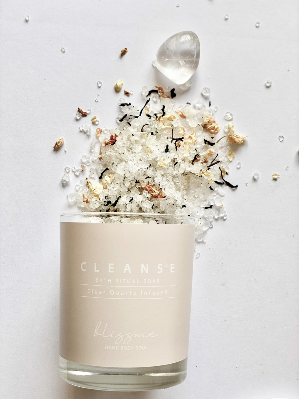 Clear Quartz Infused Cleanse Bath Ritual Soak - Islandlace