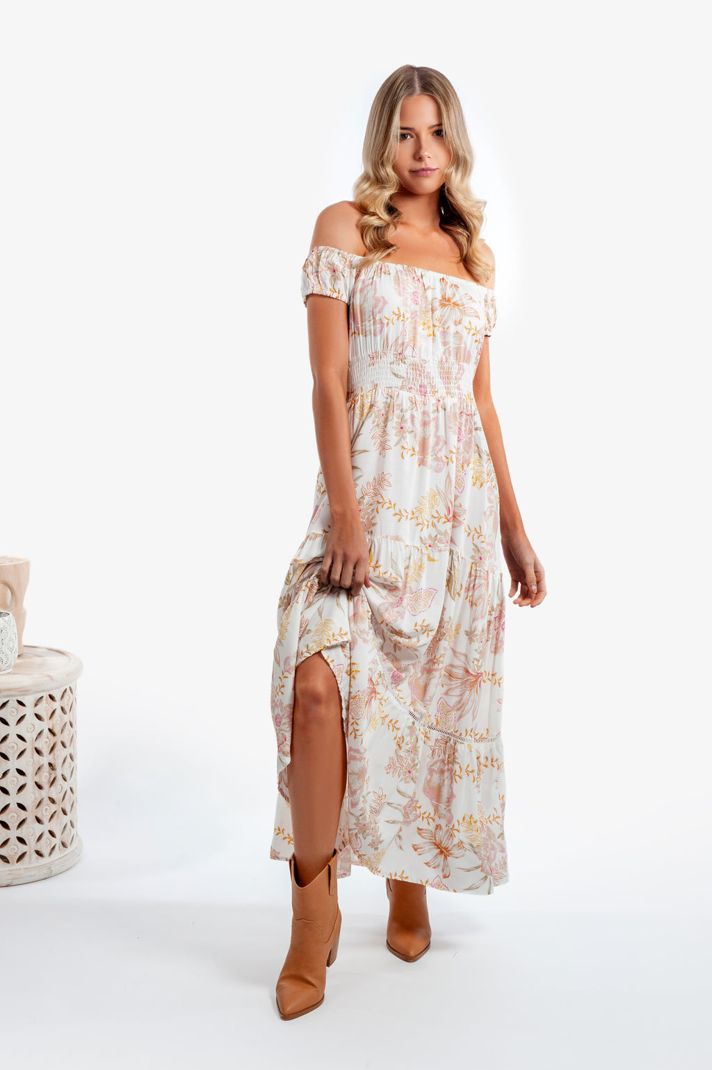 Halluana Dress - Sidney Print - Islandlace