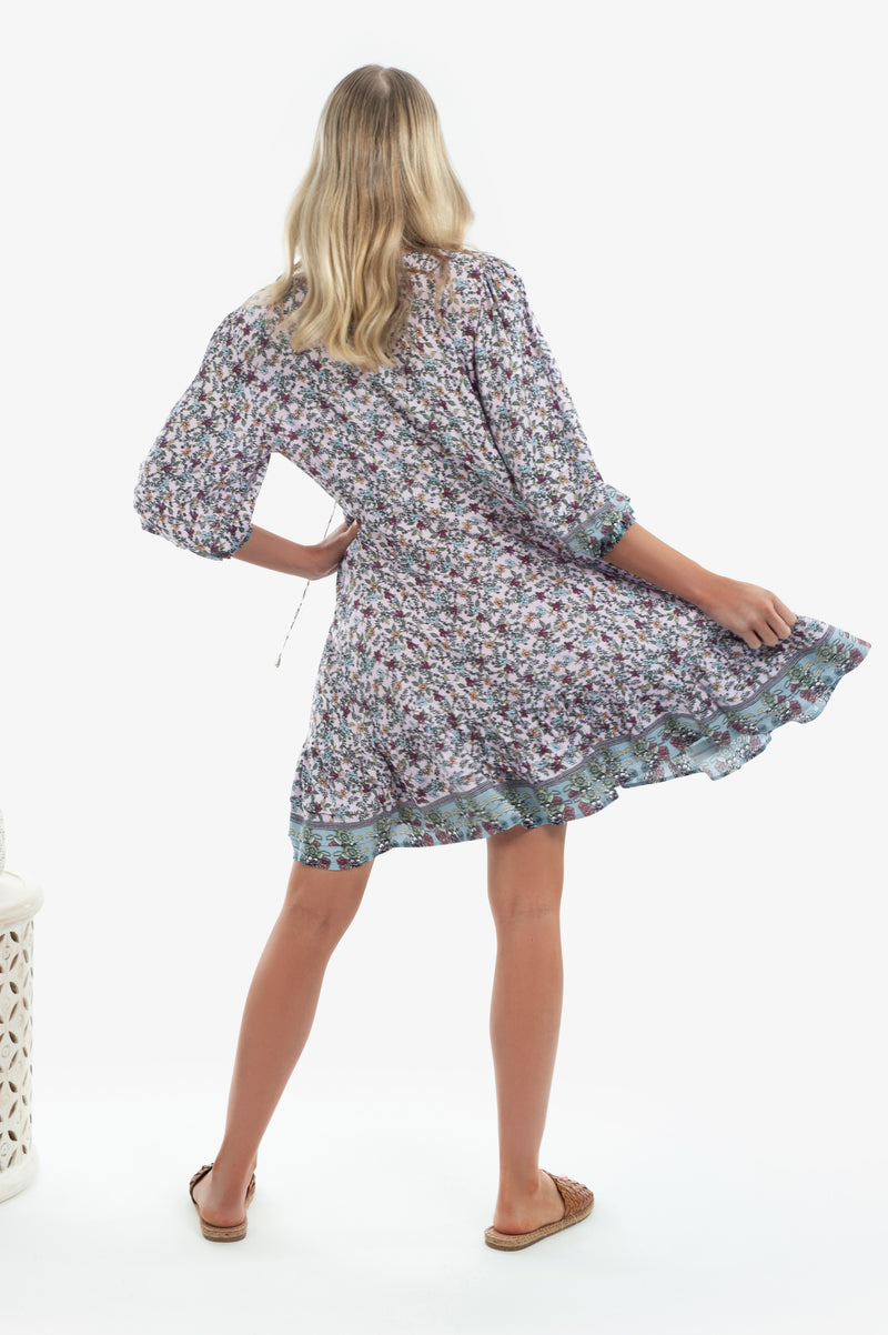 Faith Mini Dress - Patchouli Print