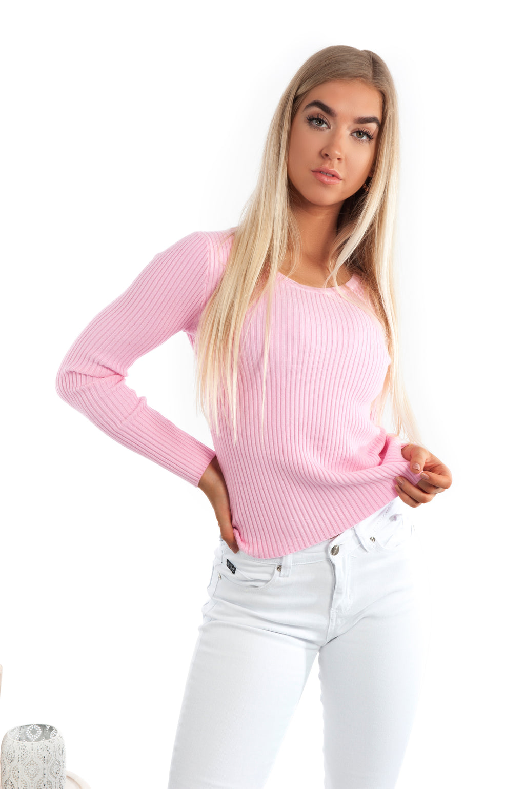Erika Knit Top - Pink - Islandlace