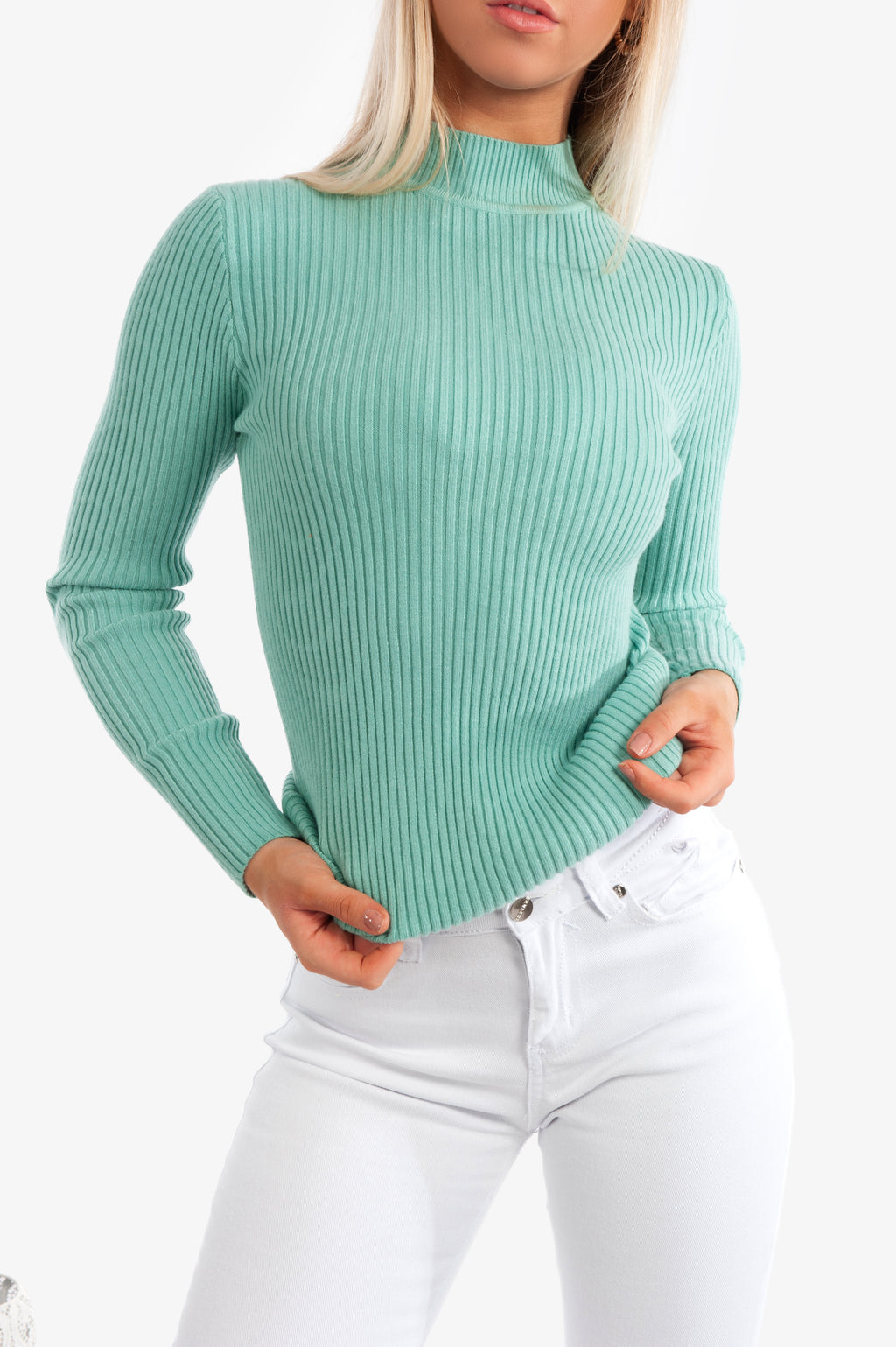 Aliya Knit Top - Mint - Islandlace