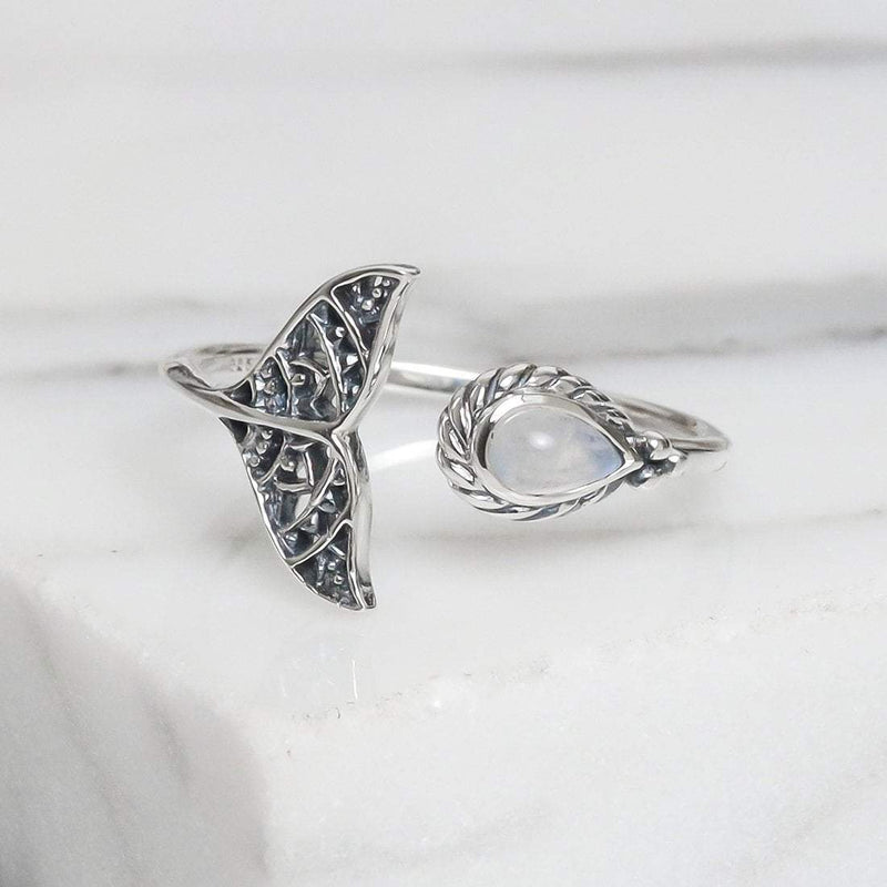 Under the Sea Moonstone Ring - 925 Sterling Silver - Islandlace