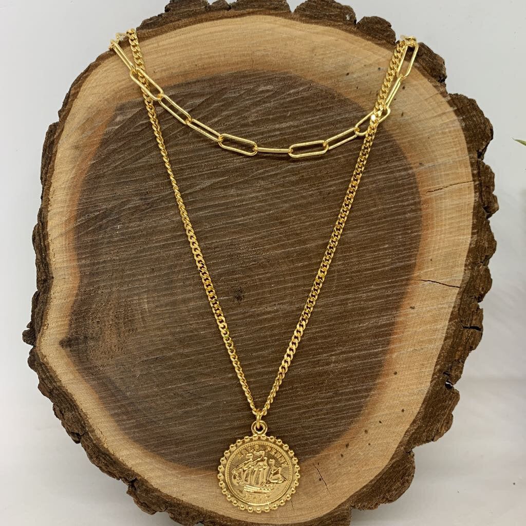 Marrin Costello 'Nova' Layered Coin Necklace