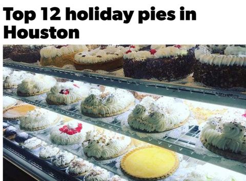 Top holiday pies in houston