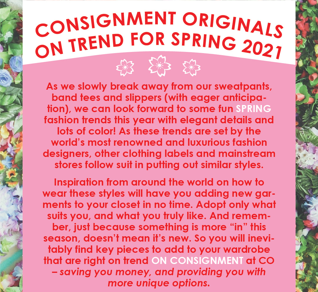 Trends for Spring 2021