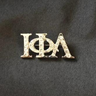 Iota Phi Lambda Sorority (ΙΦΛ) Rhinestone Greek Letter Pin