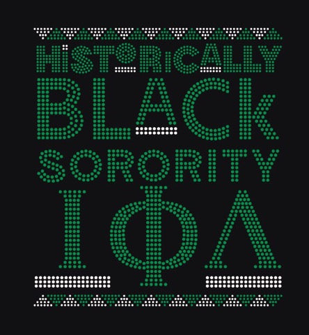 Iota Phi Lambda Historically Black Bling Tee