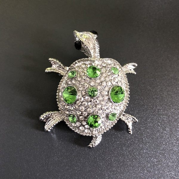 Rhinestone Turtle Lapel Pin/Brooch