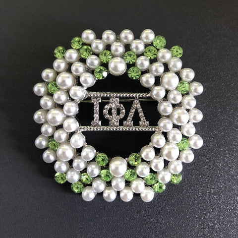 ΙΦΛ Mixed Stone Lapel Pin/Brooch