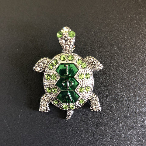 Turtle with Greek Letters Lapel Pin/Brooch