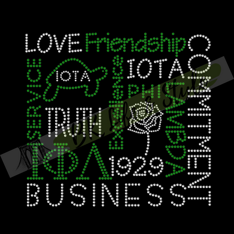 Iota Phi Lambda Word Cloud Bling Tee