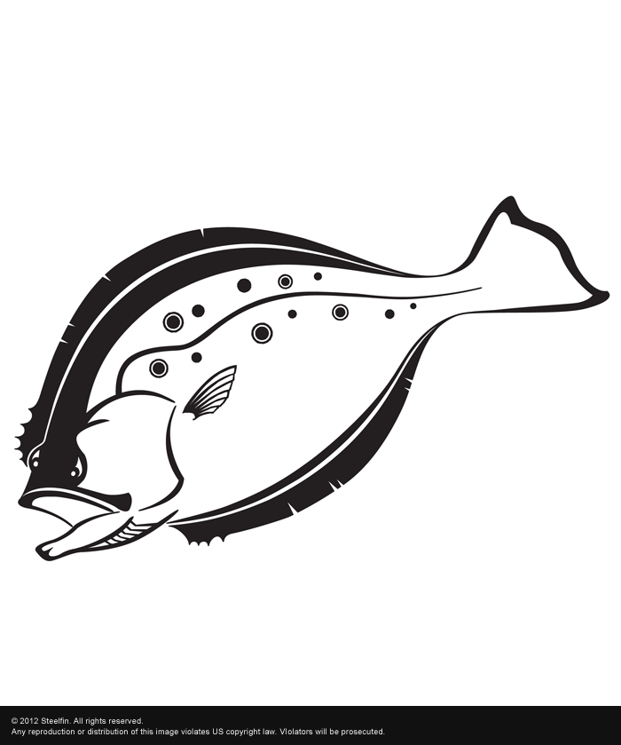 Flounder Decal – Medium
