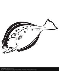 Steelfin Flounder Decal - Black