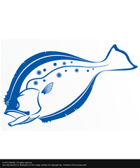Steelfin Flounder Decal - Blue