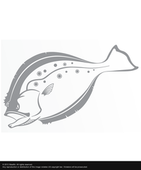 Steelfin Flounder Decal - Silver