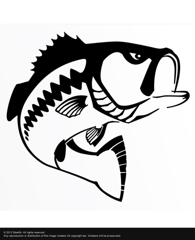 Steelfin Largemouth Decal - Black