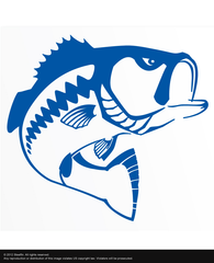 Steelfin Largemouth Decal - Blue