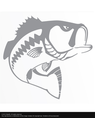 Steelfin Largemouth Decal - Silver