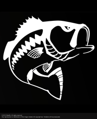 Steelfin Largemouth Decal - White