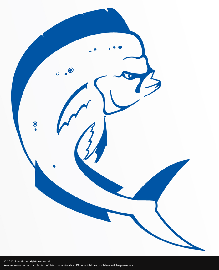 Mahi Mahi Decal – Medium