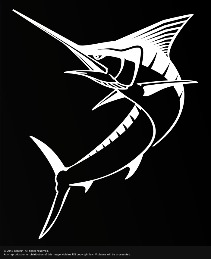 Marlin Decal – Medium