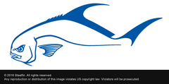 Steelfin Permit Decal - Blue