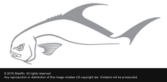 Steelfin Permit Decal - Silver