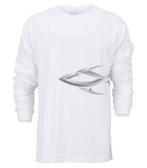 Steelfin Long Sleeve Logo Tee - White