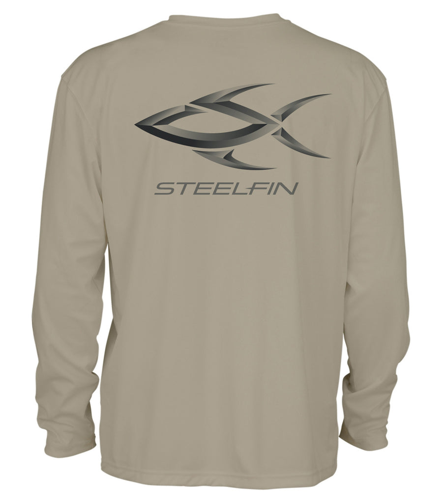 Steelfin Logo Performance Shirt – Sand
